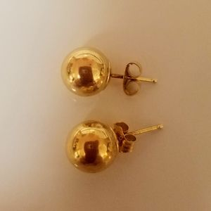 14Kt Solid Gold Ball Earrings